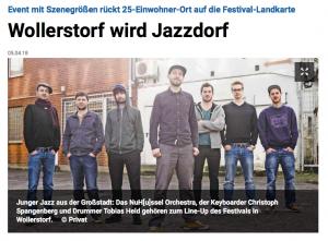 Wollerstorf wird JazzDorf - Jazzfestival Wollerstorf
