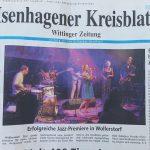 Isenhagener Kreisblatt- Titelseite: JazzDorf Wollerstorf 2018