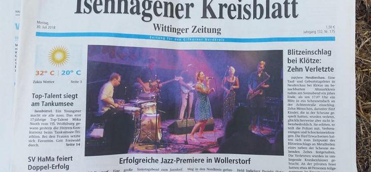 Titelseite: Erfolgreiche Jazz-Premiere in Wollerstorf